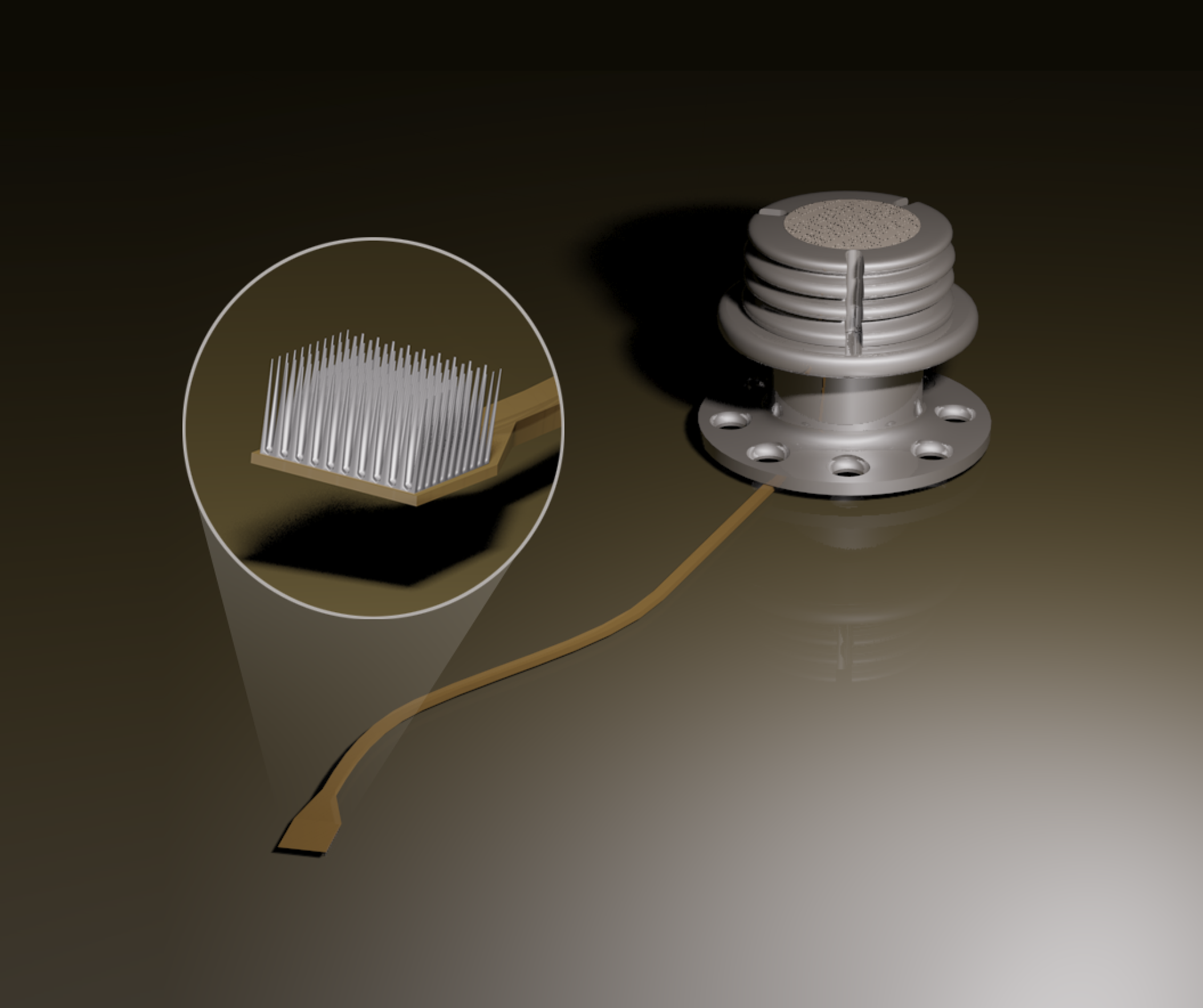 An illustration of the microelectrode array.