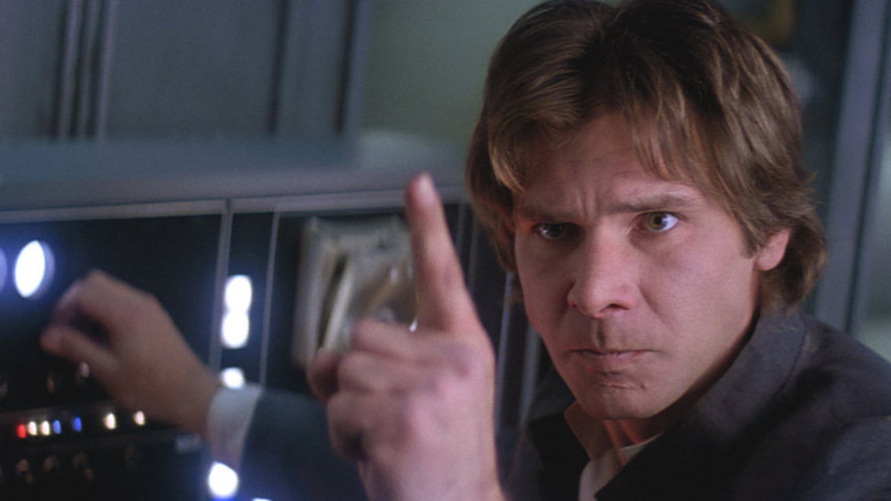 Han Solo telling C-3PO to shut up in 'The Empire Strikes Back'