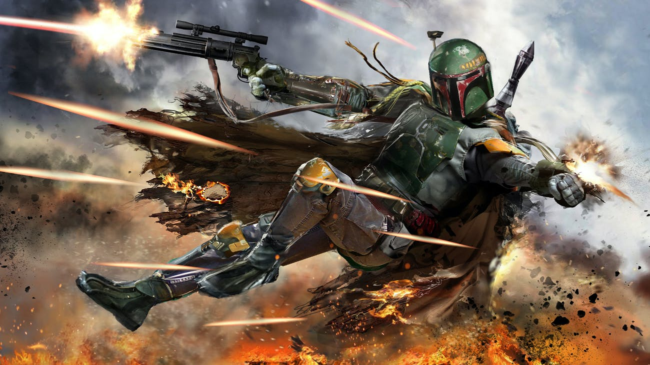 Boba Fett shooting