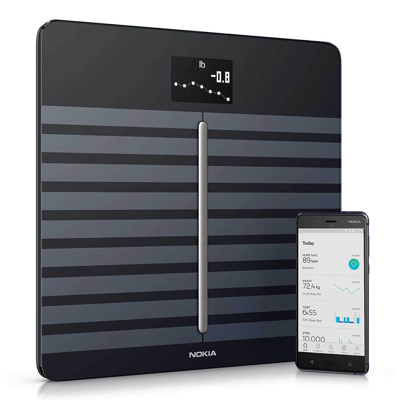 Withings / Nokia   Body Cardio – Heart Health & Body Composition Digital Wi-Fi Scale with smartphone app, Black