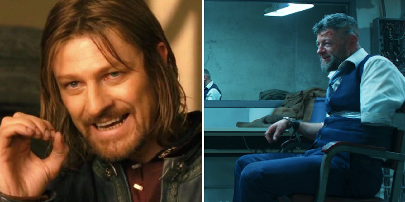 Sean Bean and Andy Serkis