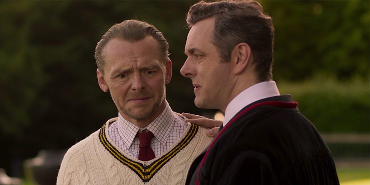 Simon Pegg and Michael Sheen star in 'Slaughterhouse Rulez'.