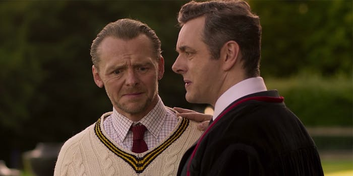 Simon Pegg and Michael Sheen star in 'Slaughterhouse Rulez'.