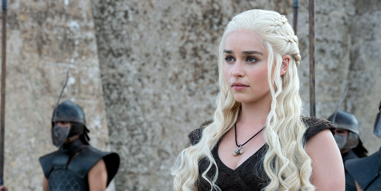 Emilia Clarke as Daenerys Targaryen in 'Game of Thrones'