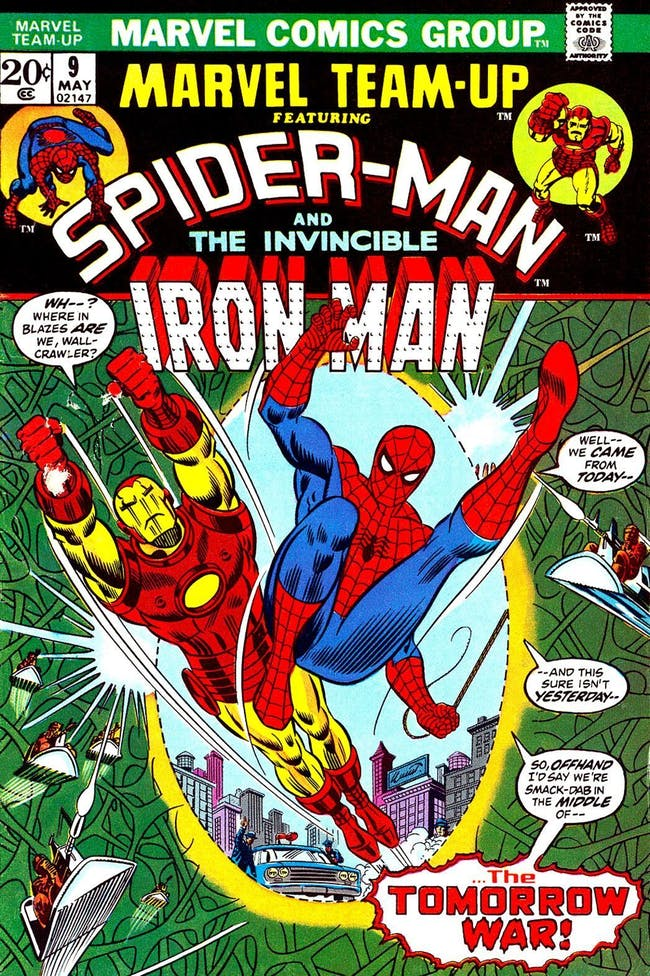 Spider-Man Iron Man comic