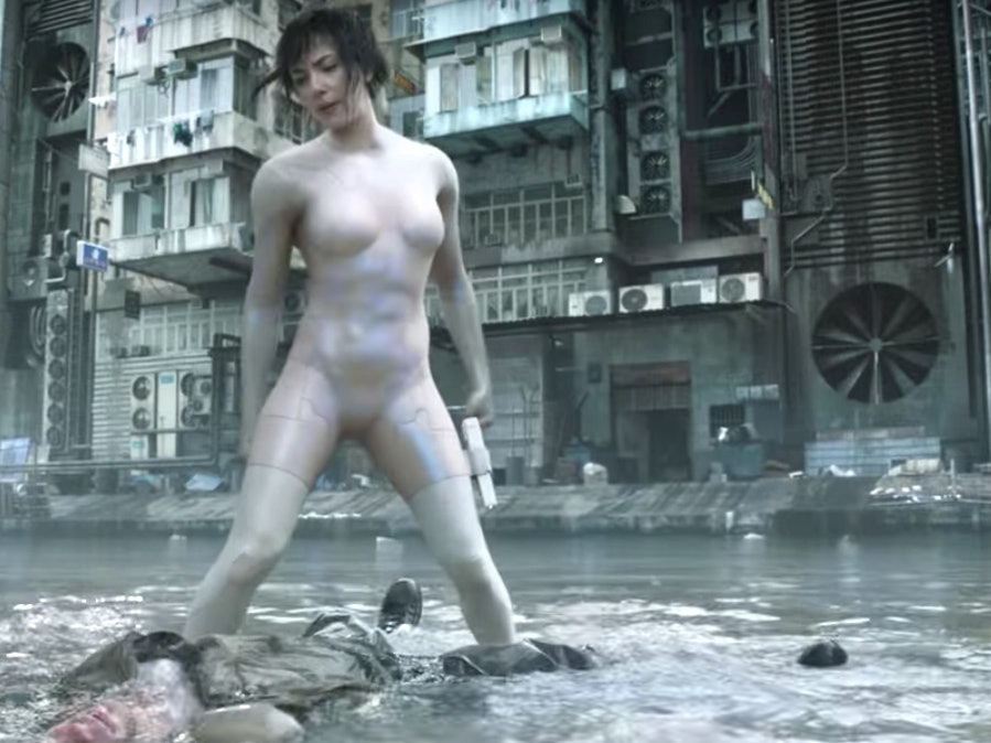 Watch Intense New 'Ghost in the Shell' Water Fight Clip