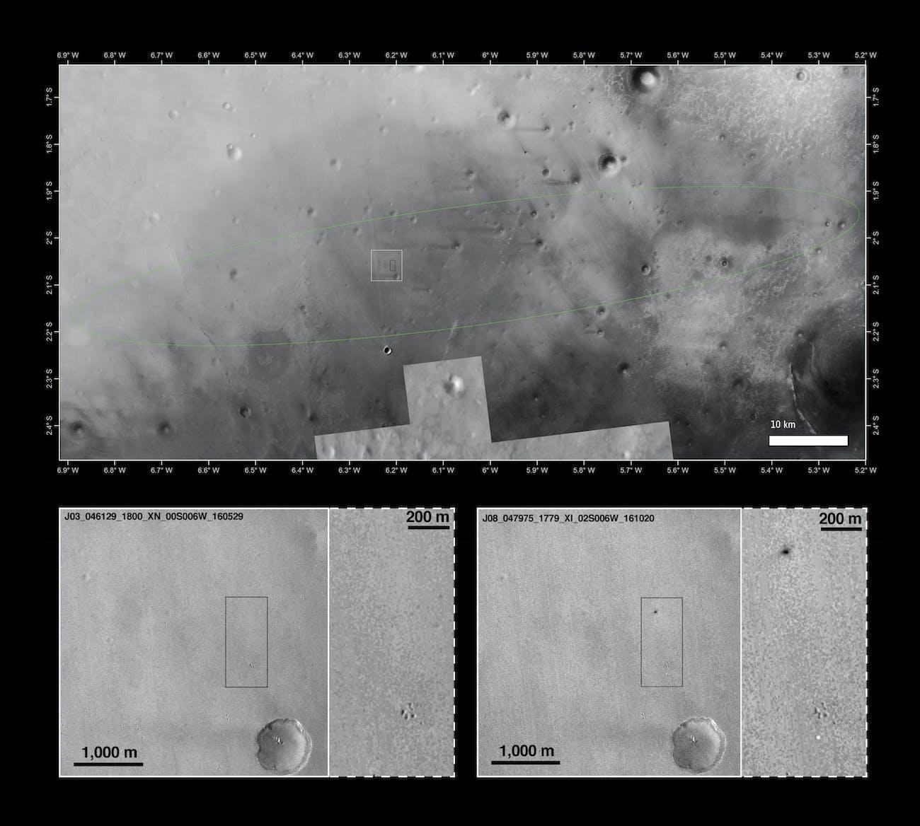 schiaparelli landing site