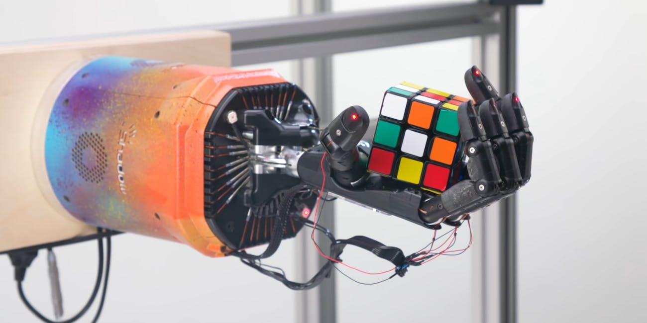 robot hand rubiks cube
