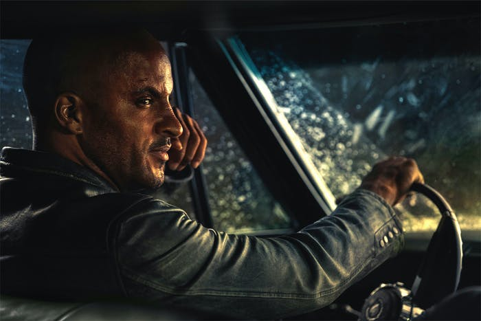 Ricky Whittle as Shadow Moon in 'American Gods'