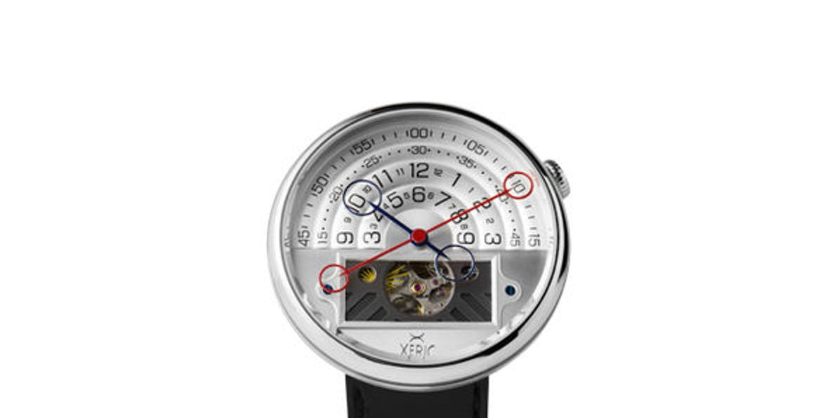 Xeric Halograph II. Automatic Watch With Innovative Display and Fine-Quality Leather Straps