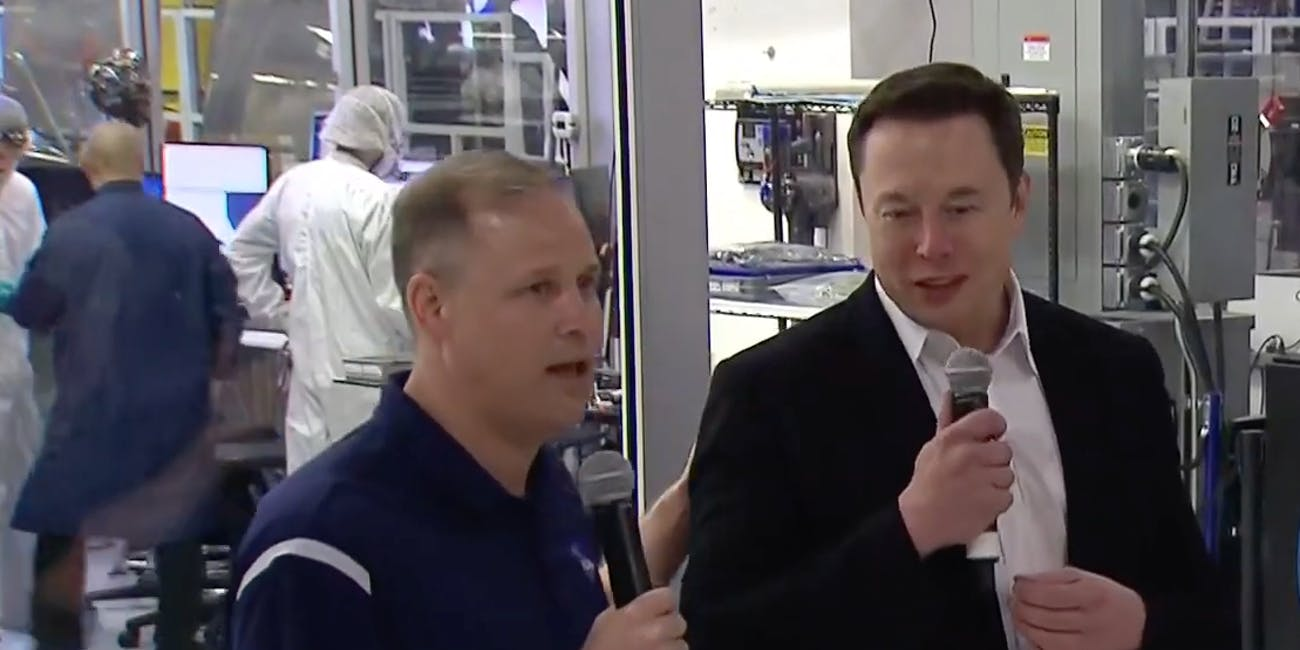 NASA Administrator Jim Bridenstine and SpaceX CEO Elon Musk on October 10, 2019.