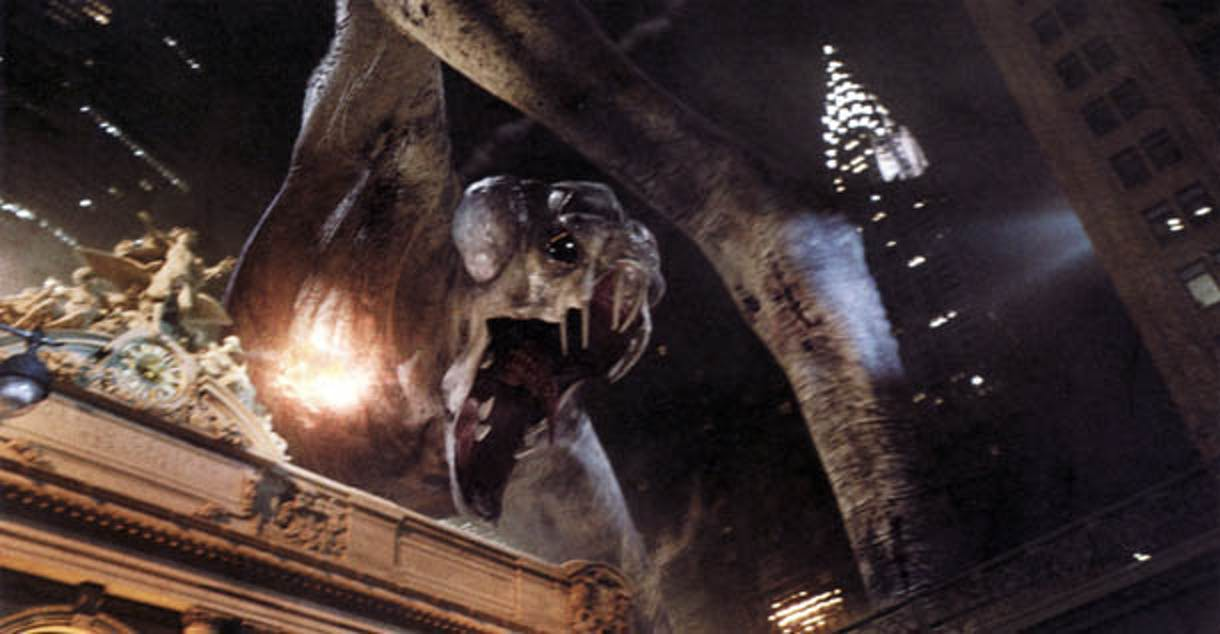 The original monster had claws and a different-looking head.