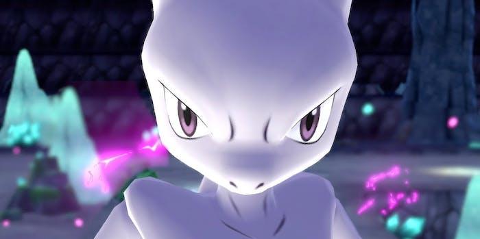 Mewtwo in 'Pokemon Let's Go'.