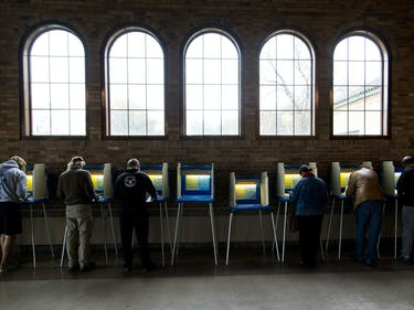 voting booths 2016 election