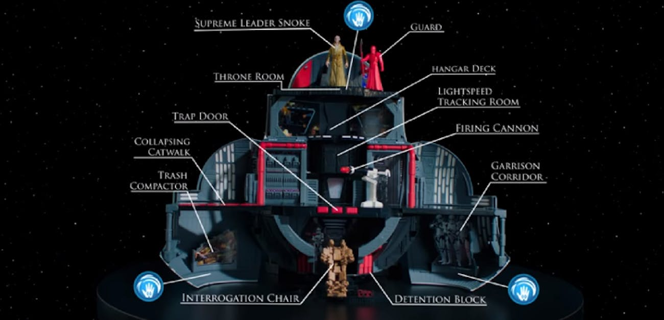 Snoke has an impressive Throne Room. He's also super tall.