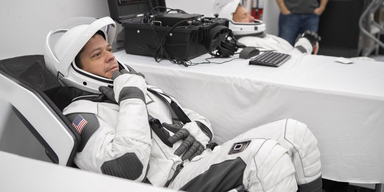 SpaceX astronauts gear up