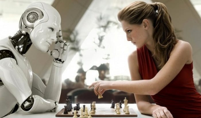 Drugs would probably help her beat this robot.