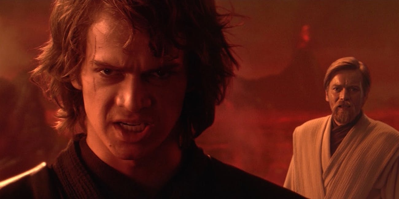 Anakin and Obi-Wan hash it out
