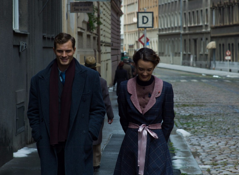 Jamie Dornan and Charlotte Le Bon in 'Anthropoid'.