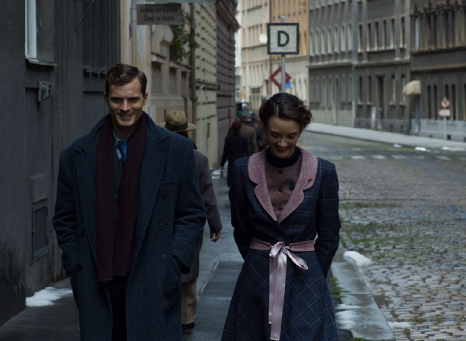 Jamie Dornan and Charlotte Le Bon in 'Anthropoid'.