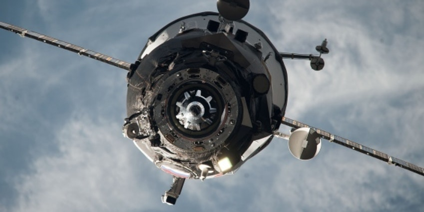 A Russian Progress spacecraft en route to the ISS.