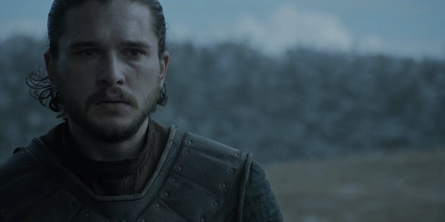 Jon Snow before the Battle of the Bastards.