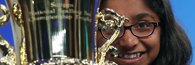 2017 Scripps National Spelling Bee, Champion, Ananya Vinay, Marocain, ESPN, Merriam-Webster, Culture, Education, News, Sports, Academia, Words, Television, National Competition