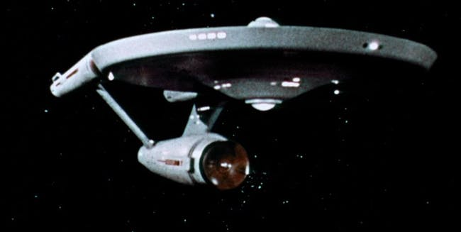 The Enterprise as seen in the classic 'Star Trek' series from 1966-1969.