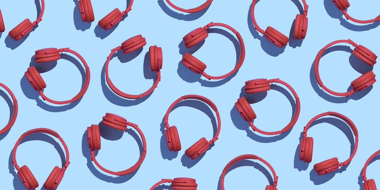 headphones bright colors