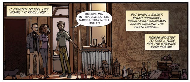 Panel from The Hellblazer: Rebirth #1