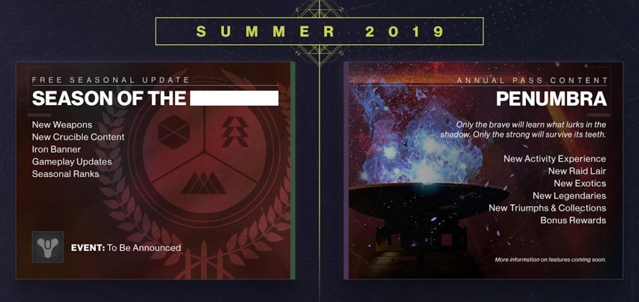 'Destiny 2' Summer Season