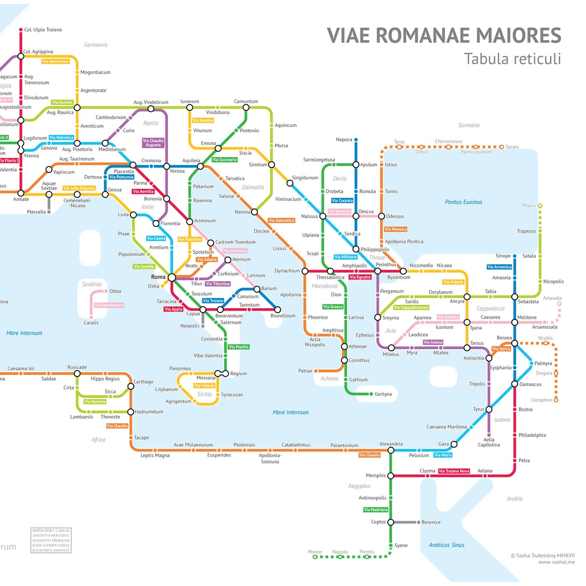 This Cartographer Turned Roman Roads Into a Modern Subway