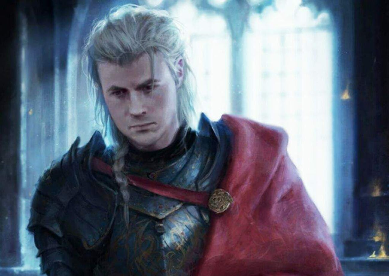 An official artist's rendering of Rhaegar Targaryen