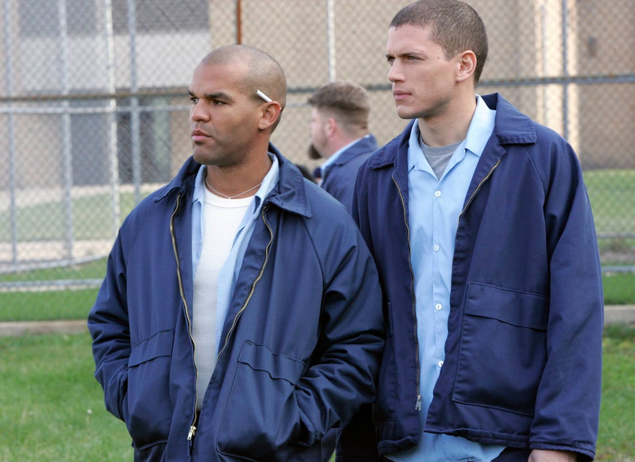 Amaury Nolasco and Wentworth Miller in 'Prison Break'