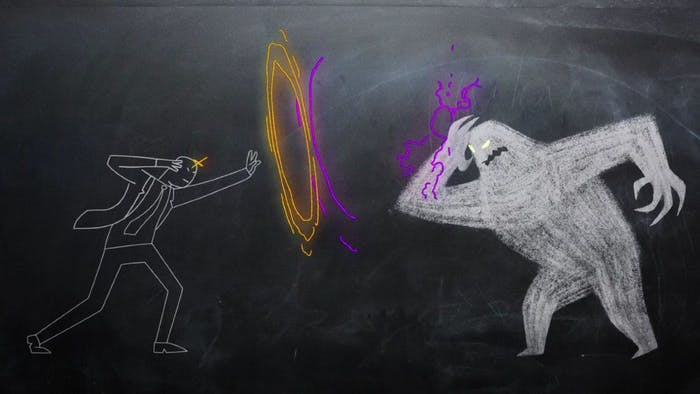 'Legion' depicted Charles Xavier's confrontation with the Shadow King as chalkboard drawings Season 1.