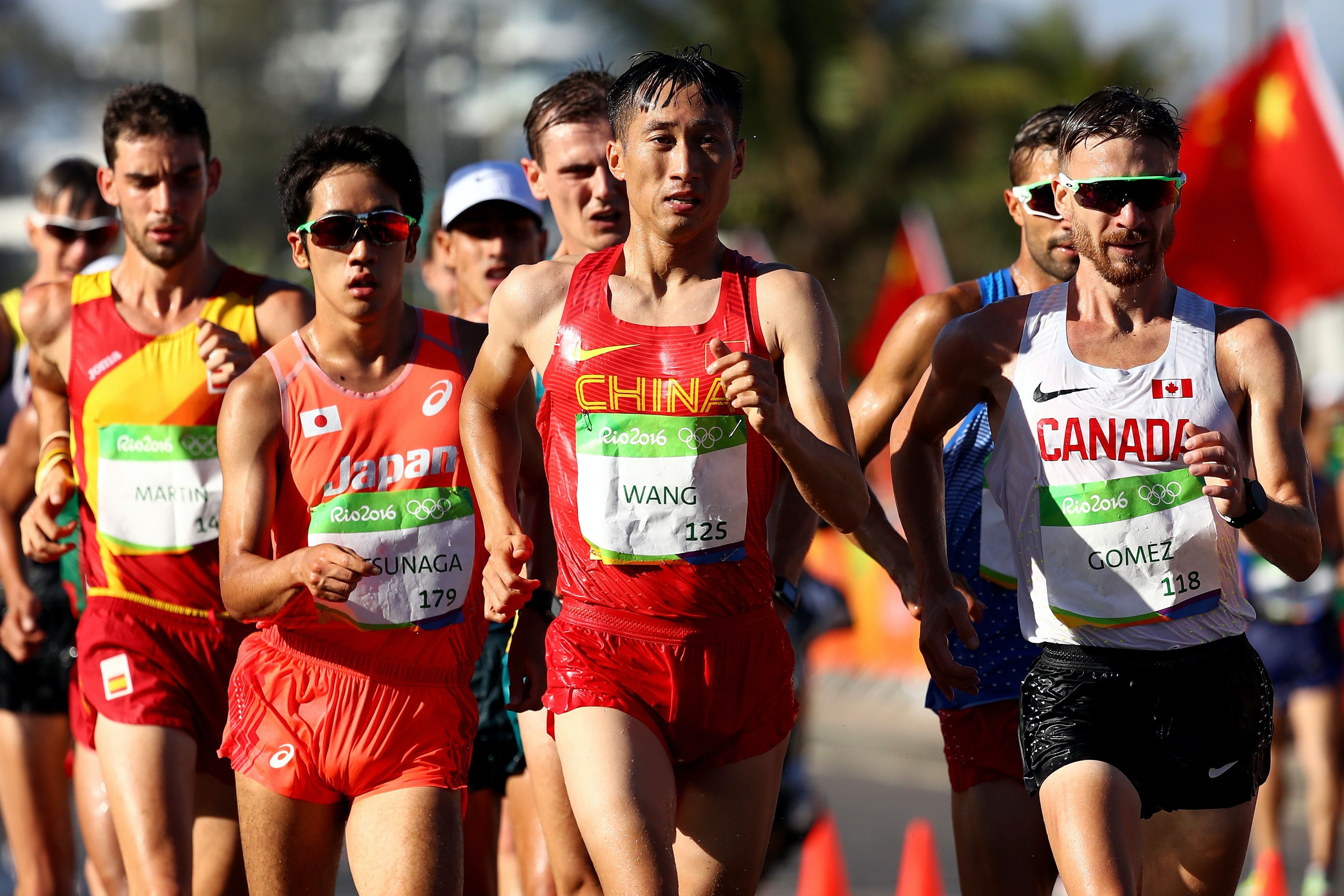 China's Zhen Wang took home a gold medal in the 20 km race walk last Friday, finishing with a time of 1:19:14.