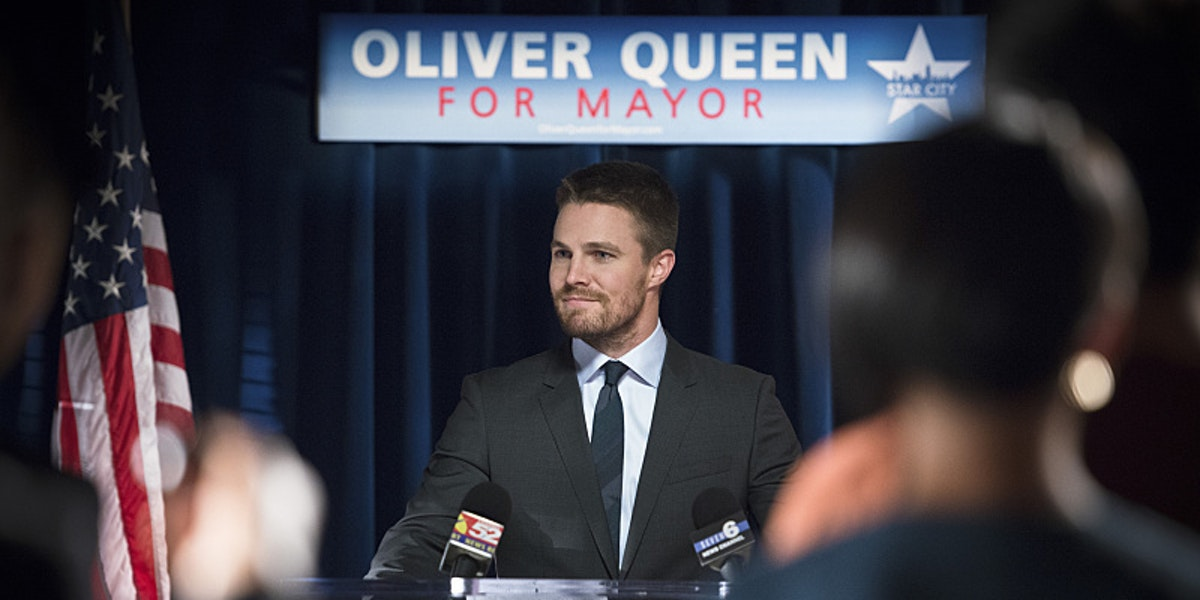 Stephen Amell in 'Arrow' Season 4