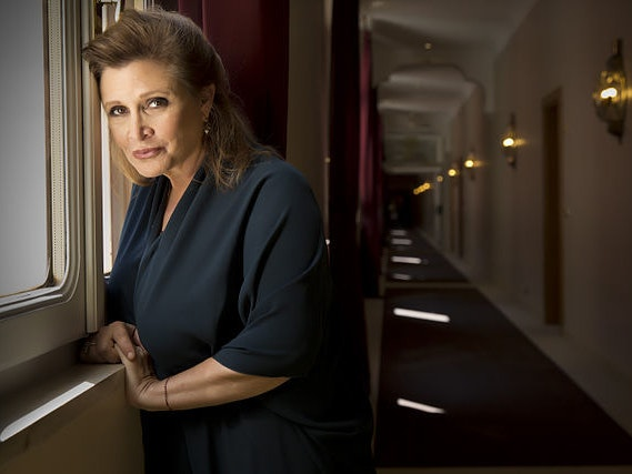 Carrie Fisher blames Donald Trump's sniffs on cocaine.