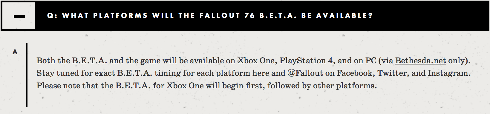 Fallout 76' Beta FAQ Reveals Good News and Bad News For Bethesda