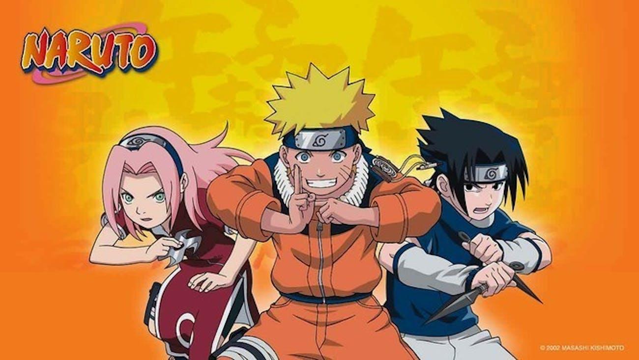Sakura, Naruto, and Sasuke as they appear in 'Naruto.'