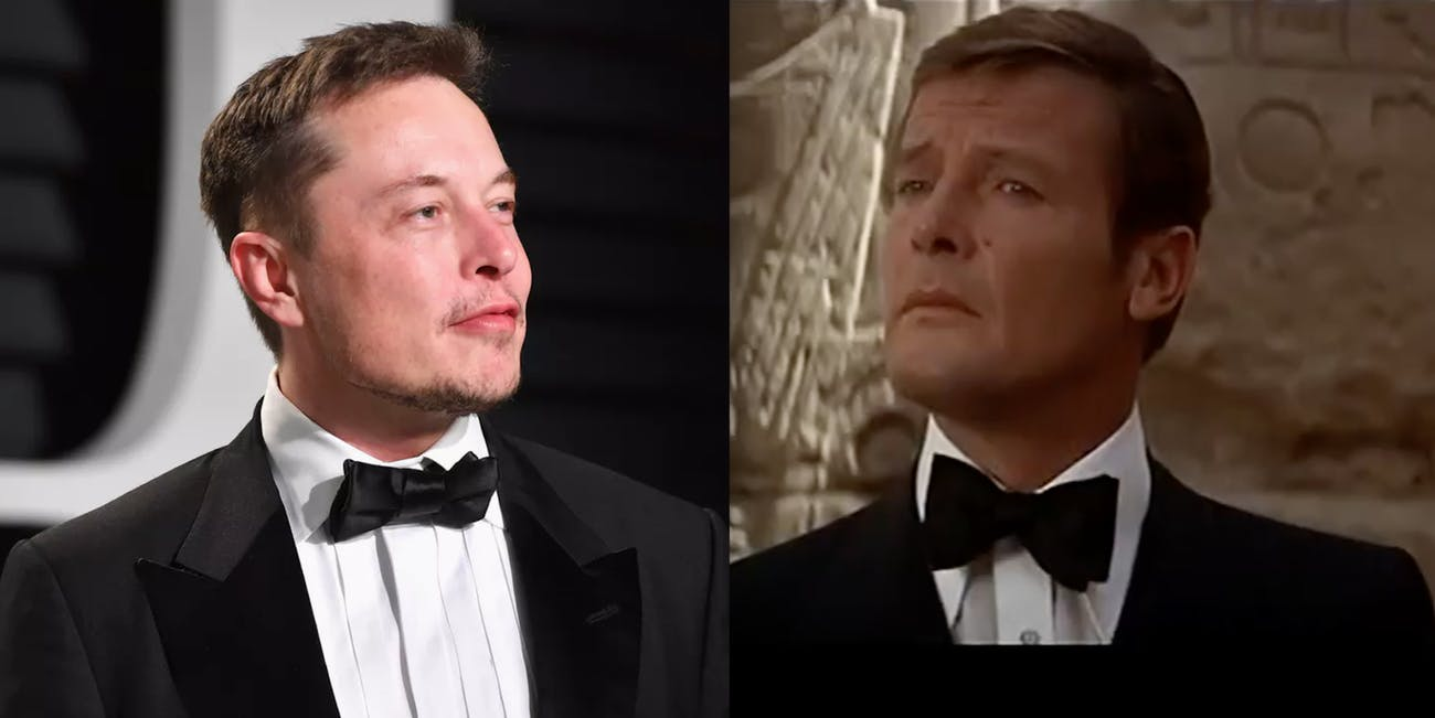 James Bond Elon Musk in Suits