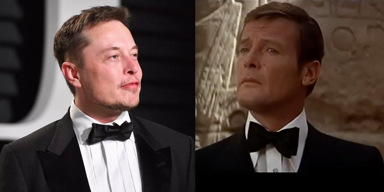 James Bond Elon Musk in Suits
