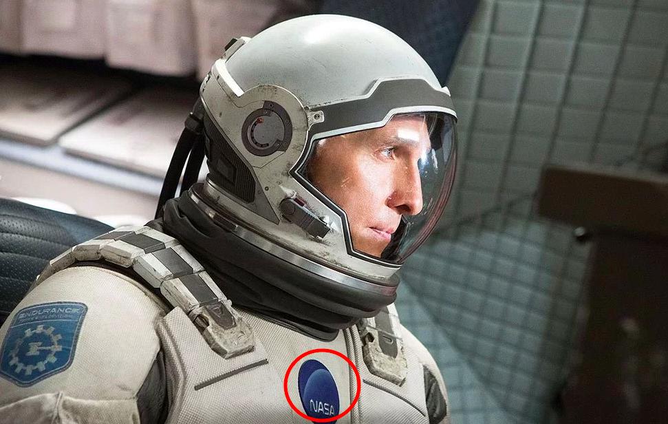 Matthew McConaughey in 'Interstellar' with real NASA font.
