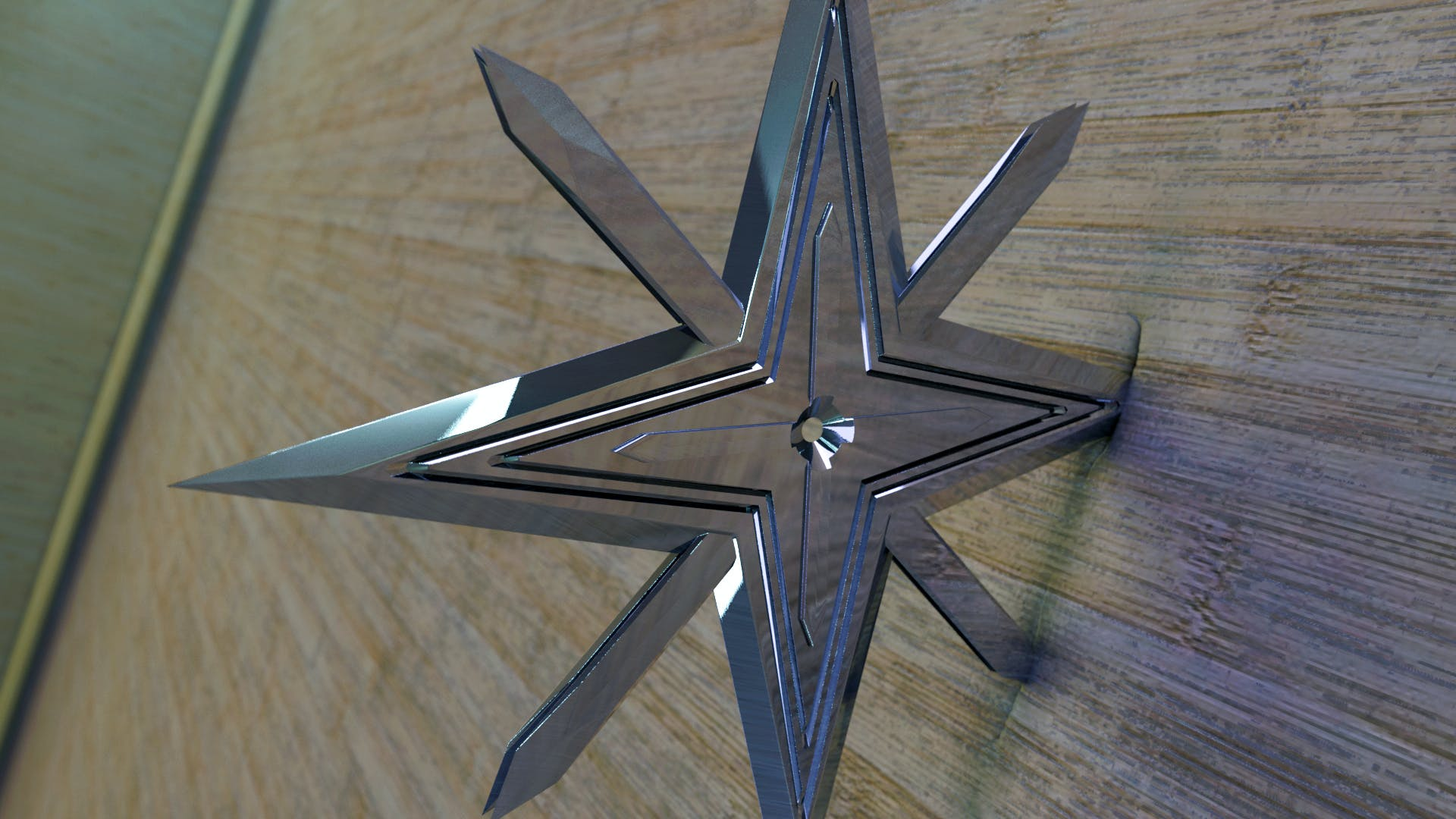 a 3d designed ninja star i am playing with modeled and rendered in modo