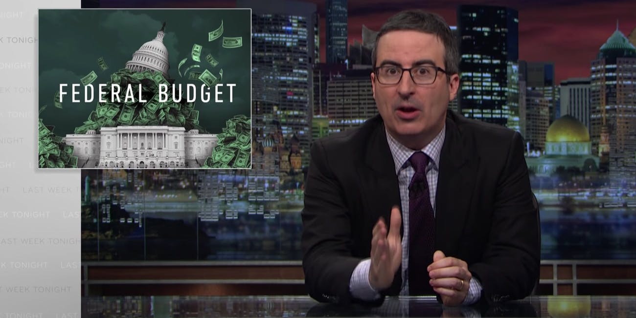 John oliver these 3 trump quotes explain his draconian budget trumps budget blueprint contains a number of deep cuts malvernweather Image collections