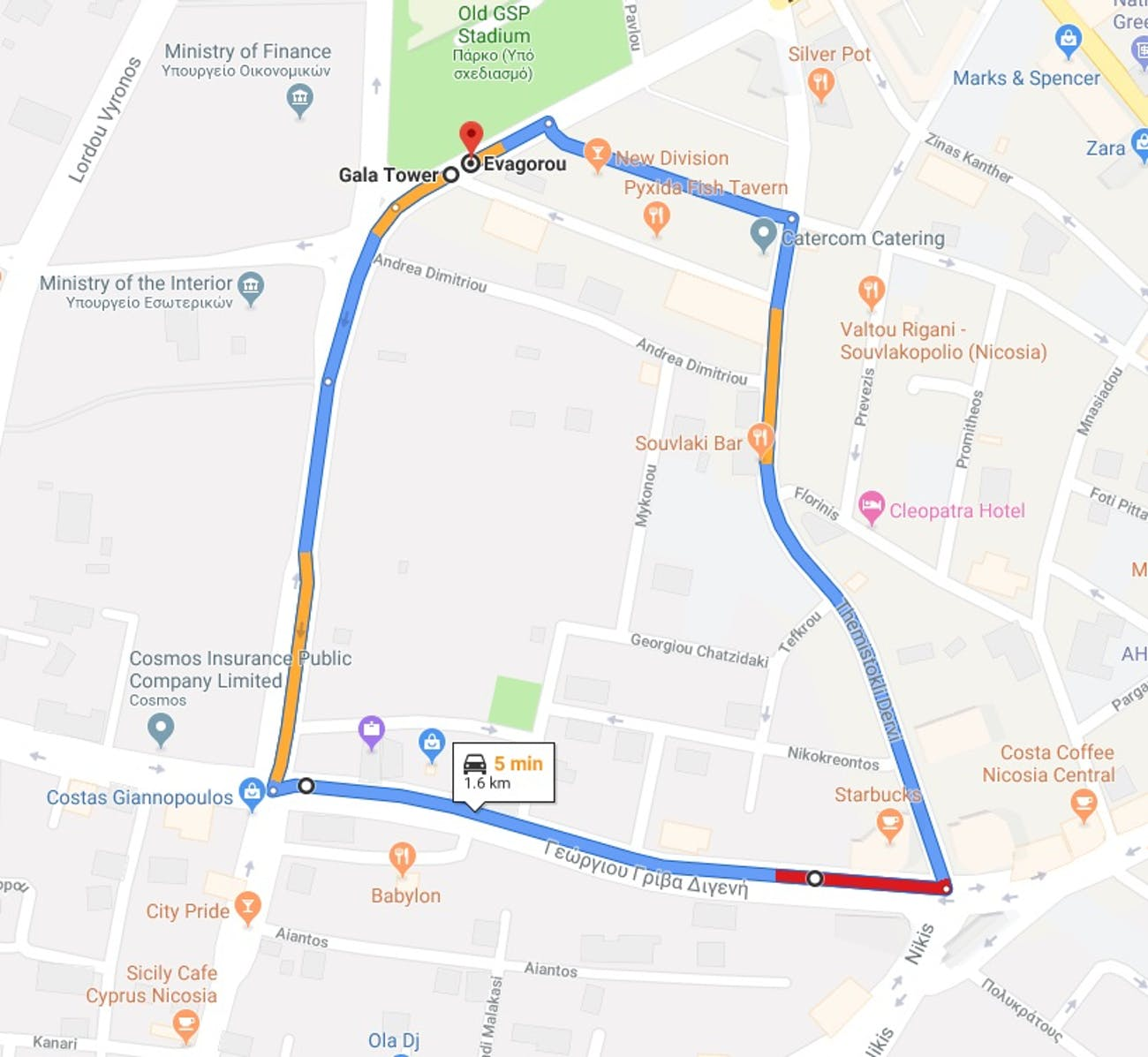 The route as laid out by the organizers.