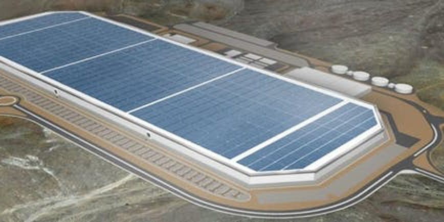 The finished Gigafactory.