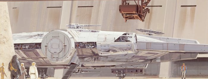 One of Ralph McQuarrie's early concepts for the Falcon