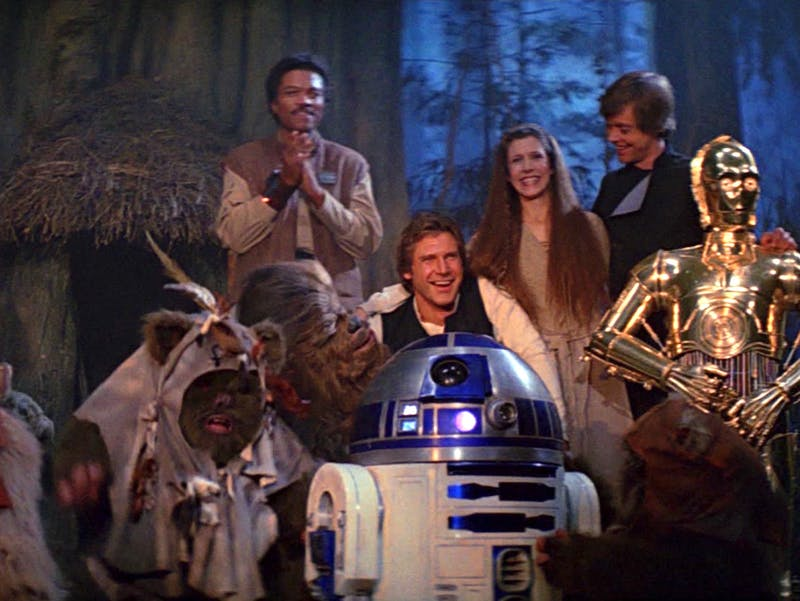 The fam in 'Return of the Jedi'