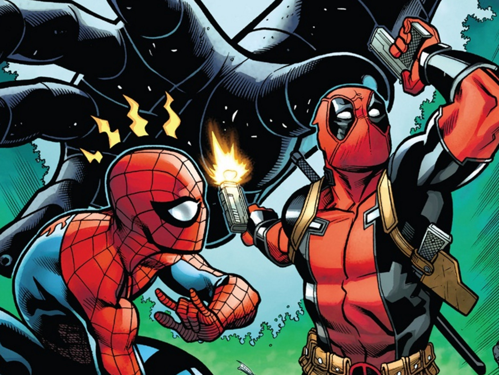 Cover for Marvel Comics' Spider-Man/Deadpool #13